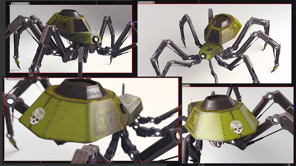 MECHANICAL SPIDER RENDERED WITH VRAY
